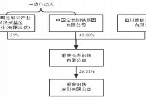 联手重庆战新基金,央企宝武钢铁将成重庆钢铁实际控制人
